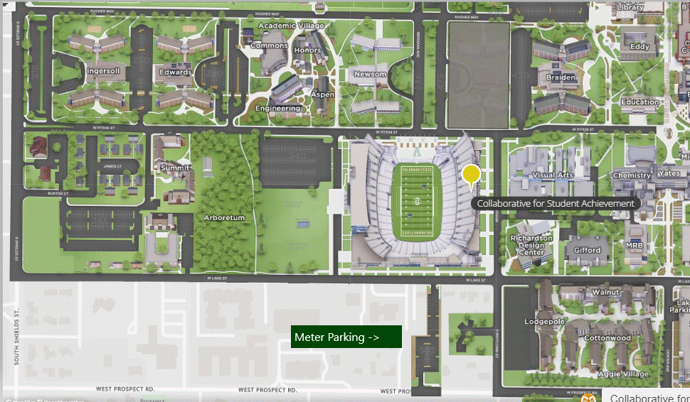 Map - parking is on the south side of the stadium, between Pitkin and Prospect